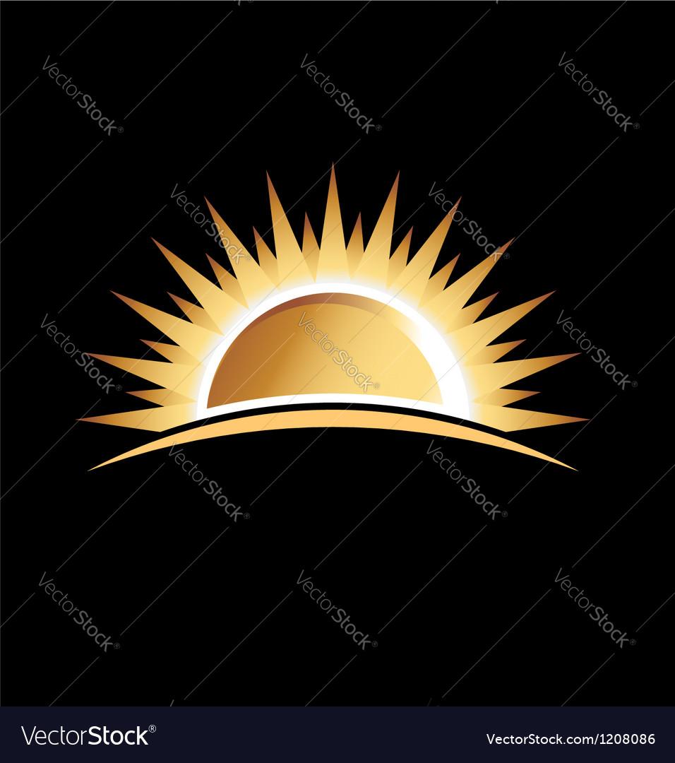 Gold sun vector image