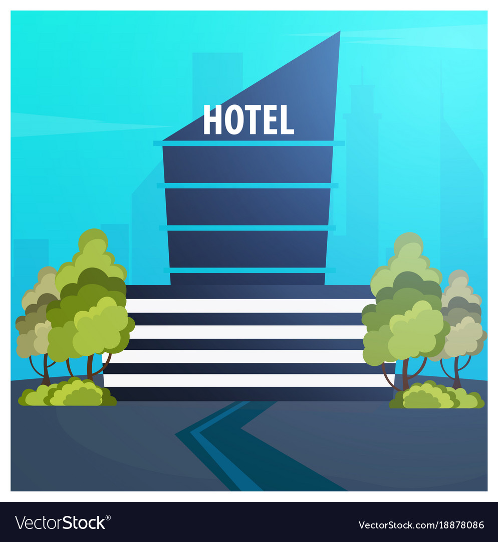 Hotel building guest house travel and trip