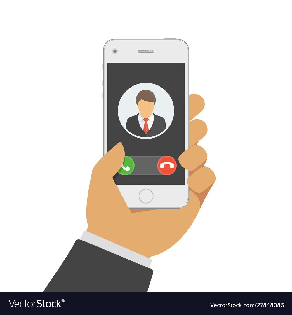 Incoming call on mobile phone
