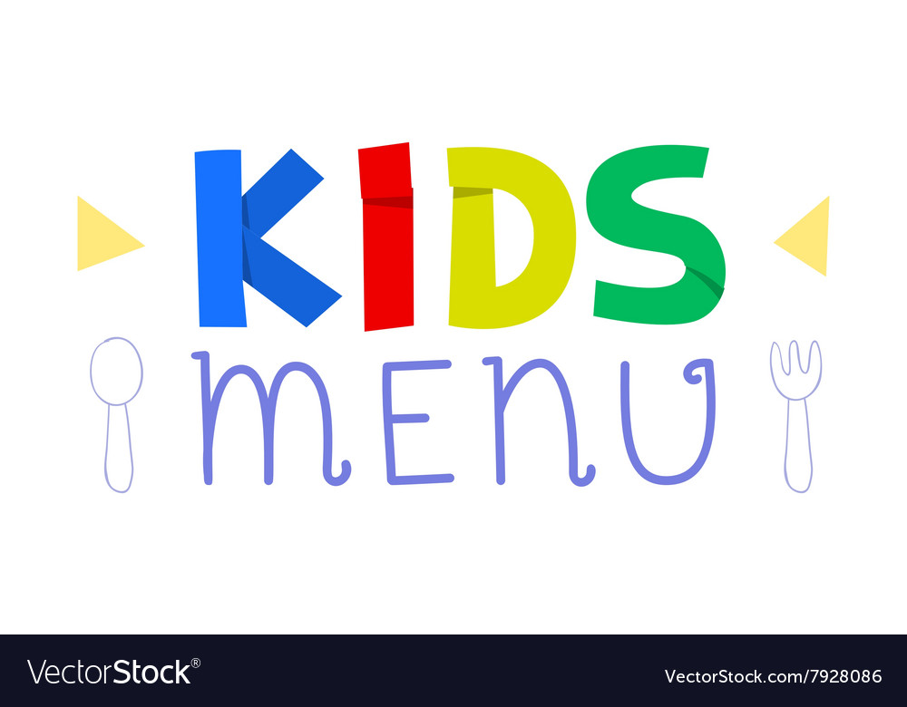 Kids menu logo design template