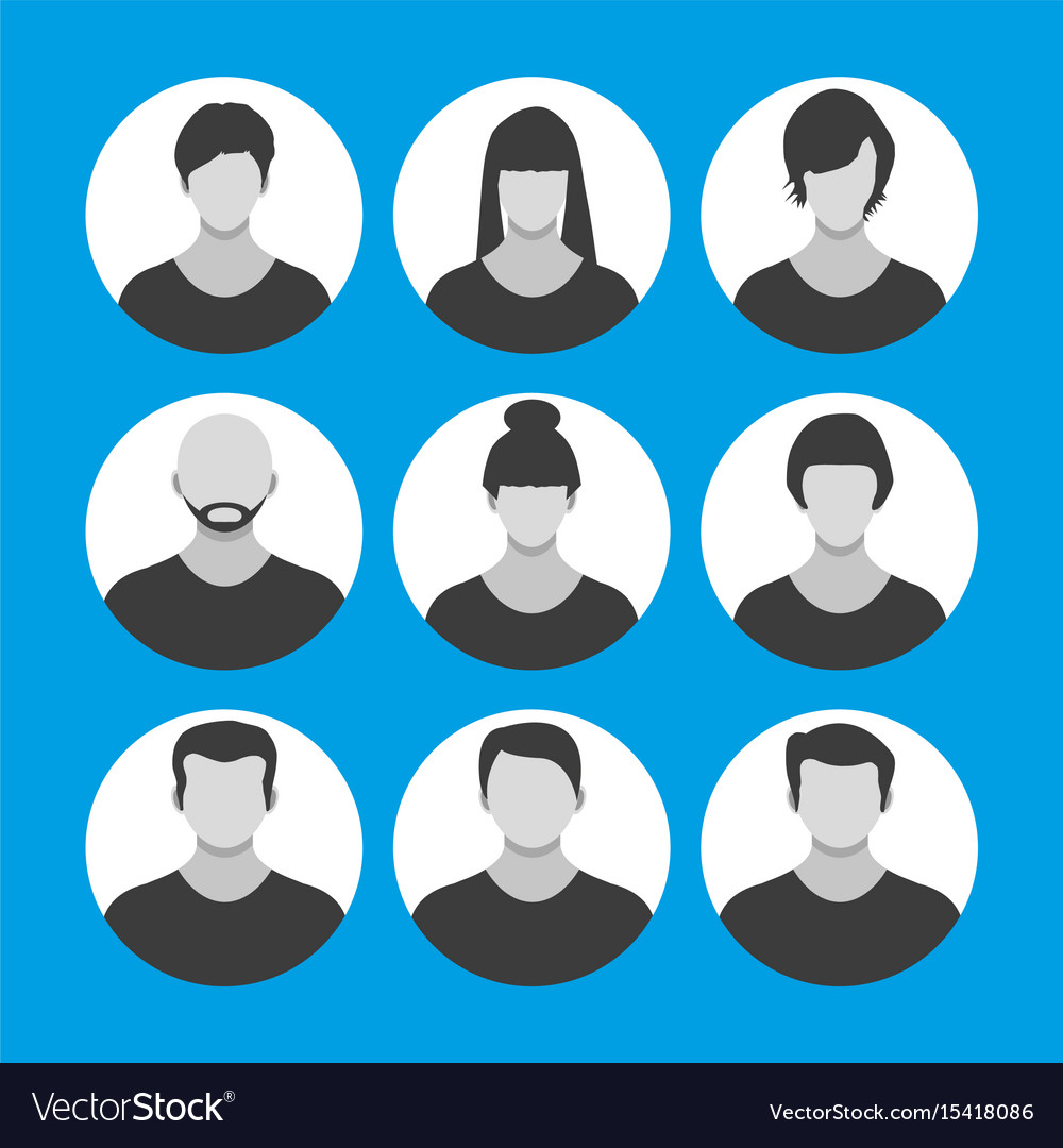 People face avatar icon cartoon character