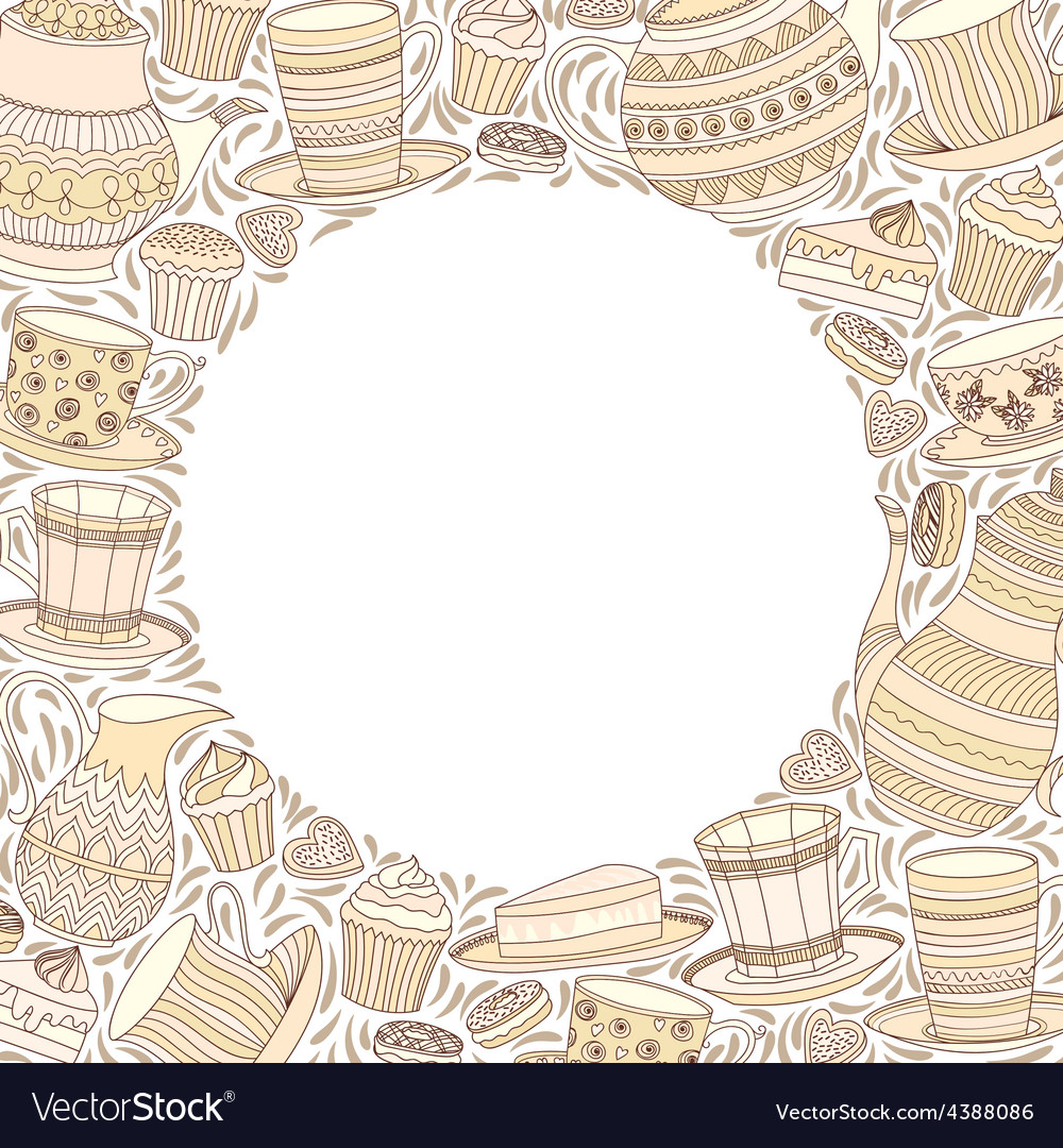 Tea Time Frame vector image