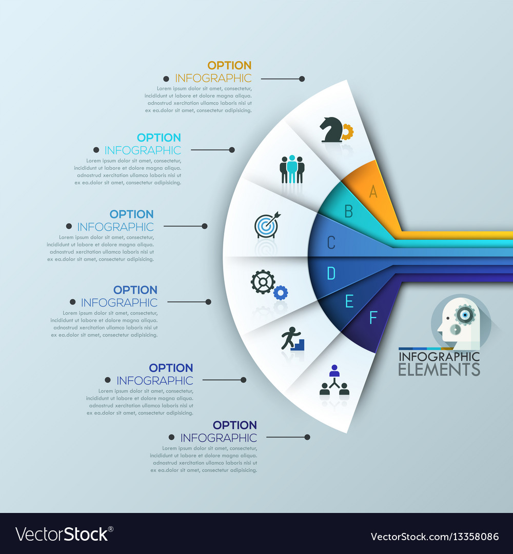 Unusual infographic design template 6 vector image