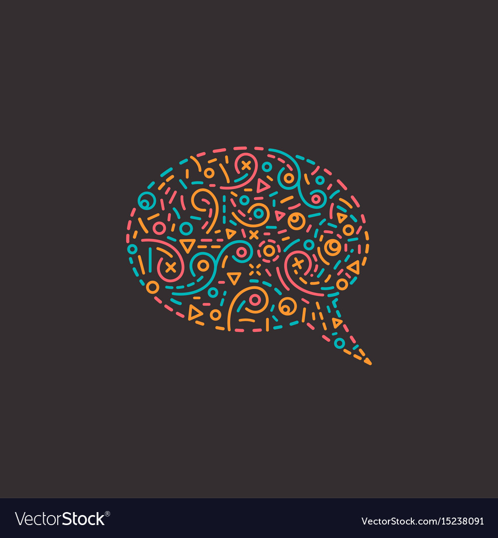 Abstract business logo icon with speech bubble vector image