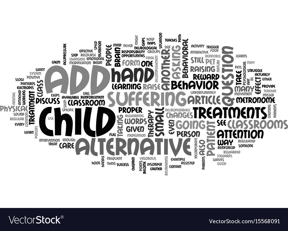 Add alternative treatments text word cloud concept vector image