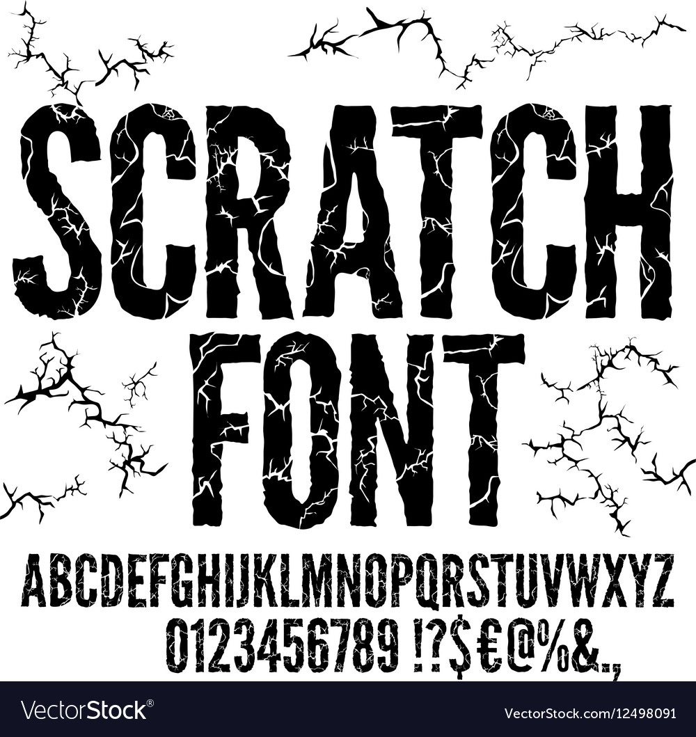 free cracked font