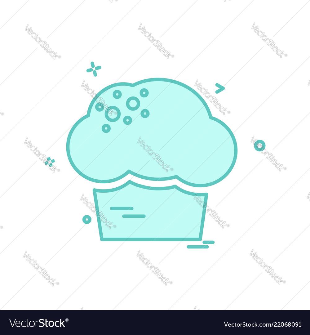 Cup cake icon design