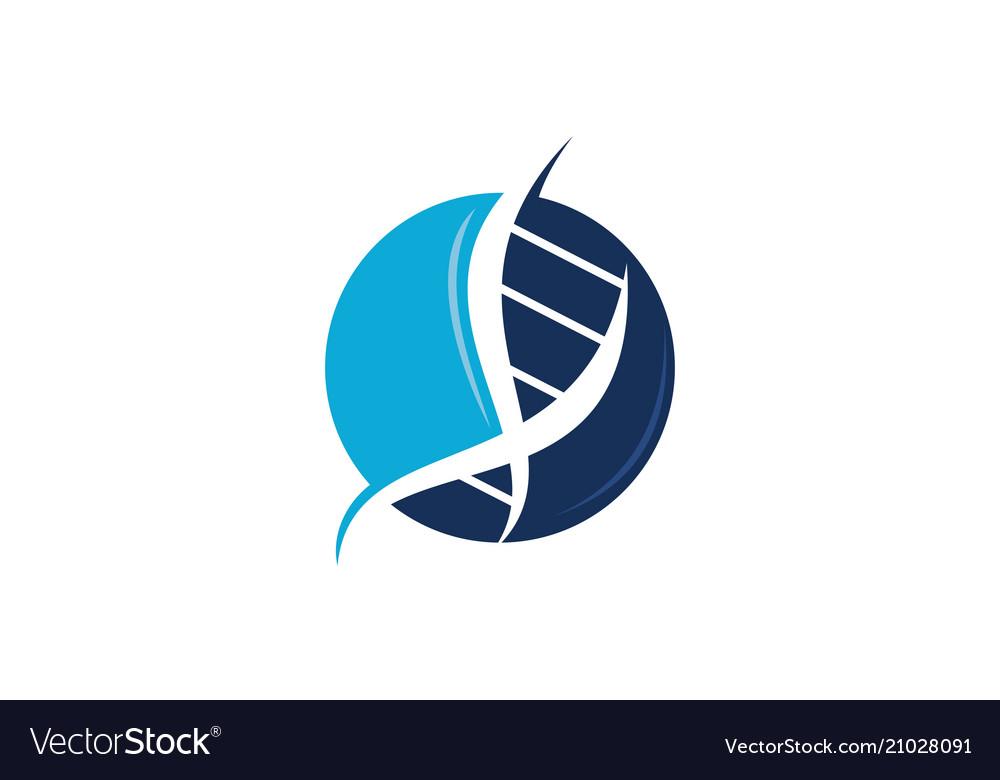 Dna genetic logo design template