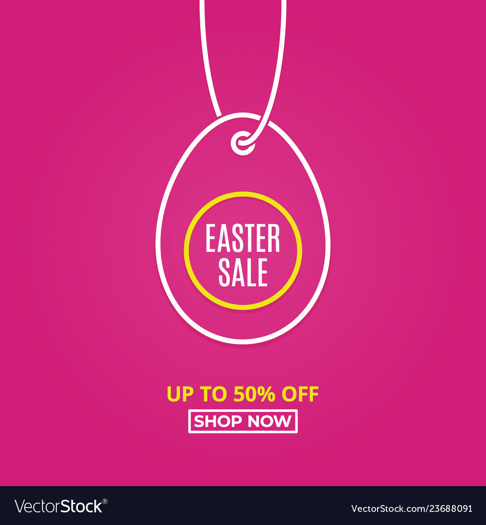 Easter sale happy easter egg line linear tag egg