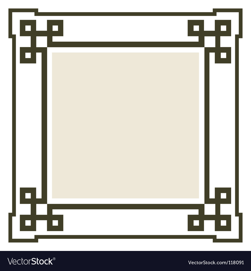 Art Deco Patterns Vector. Vector art deco frame,
