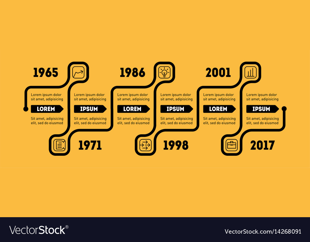 Horizontal infographic timeline business concept