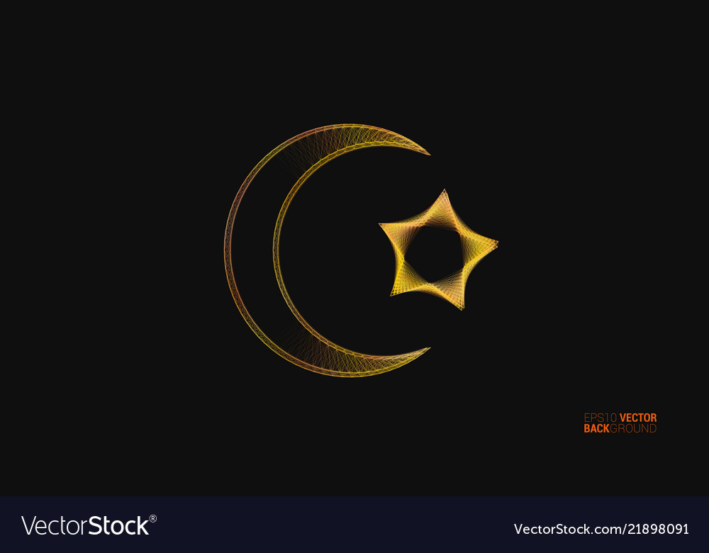 Islamic design background with crescent