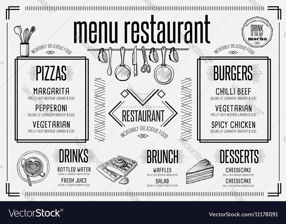 Menu Restaurant Food Template Placemat