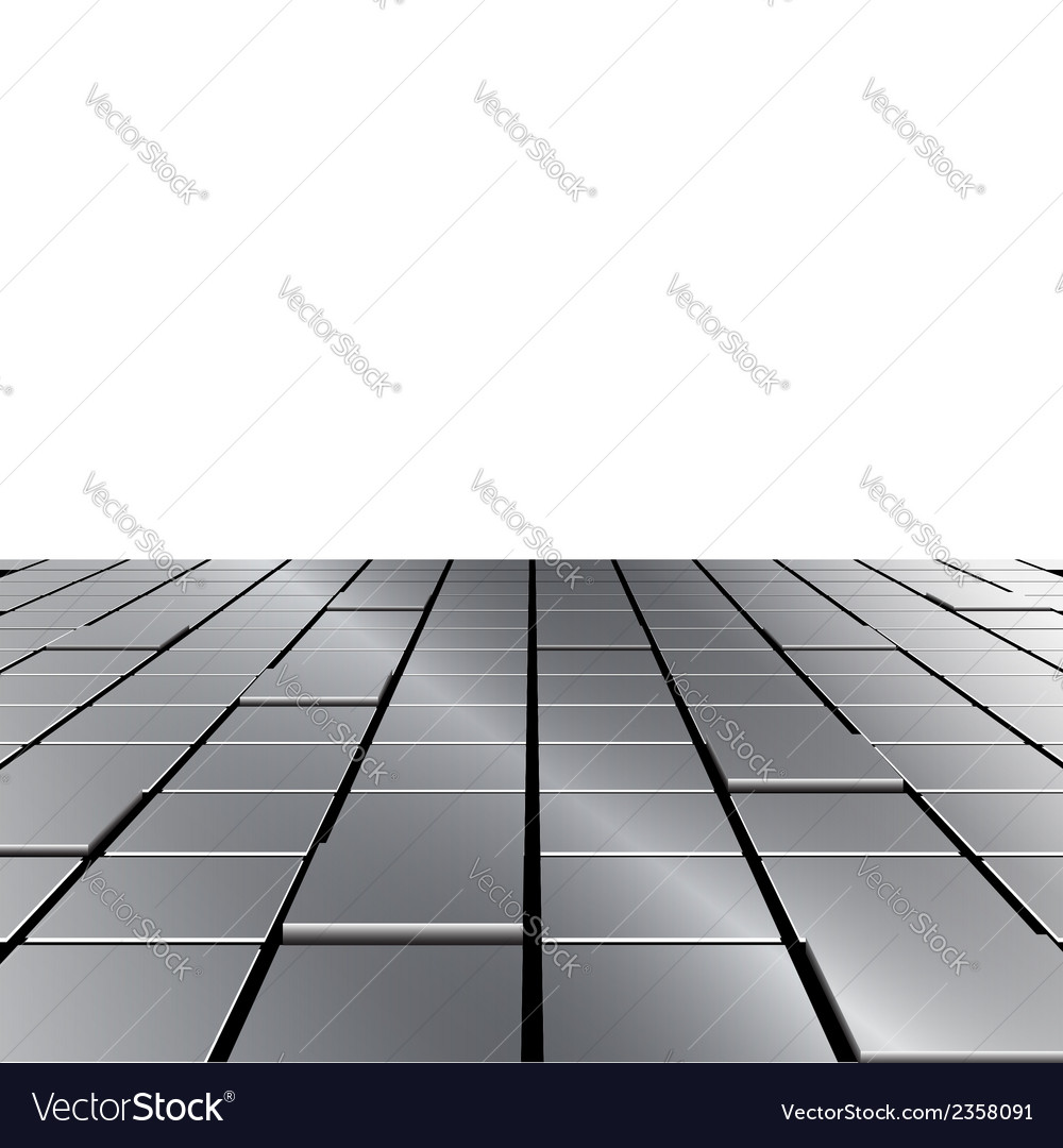 Metal Cube Background vector image