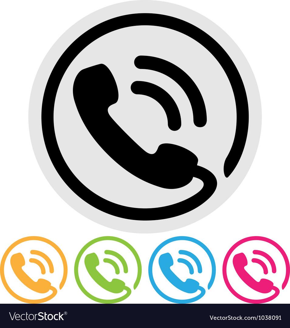 Phone icon vector image