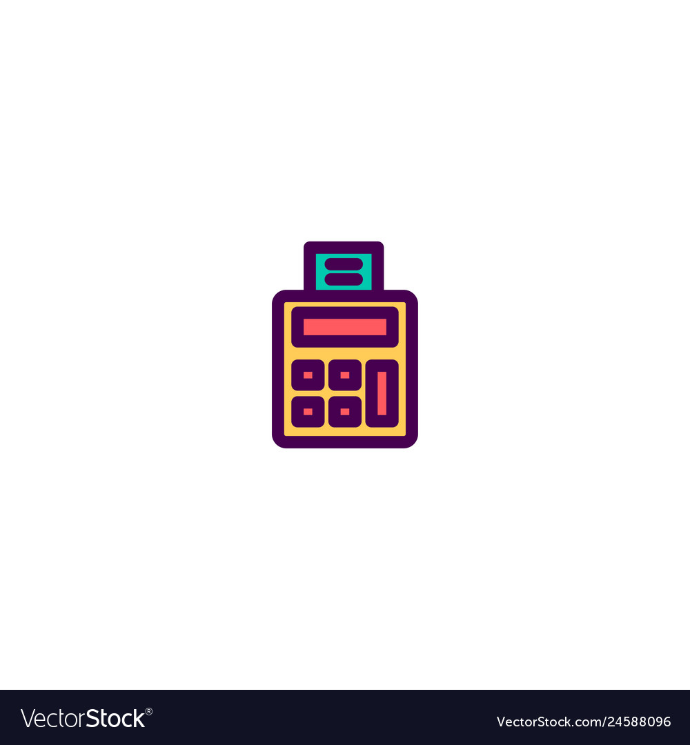 Calculator icon design e-commerce icon design
