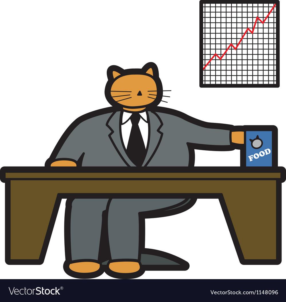Fat cat in office