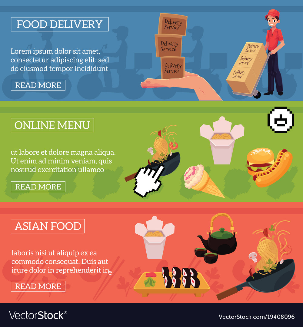 Food Delivery Online Menu Asian Food Ad