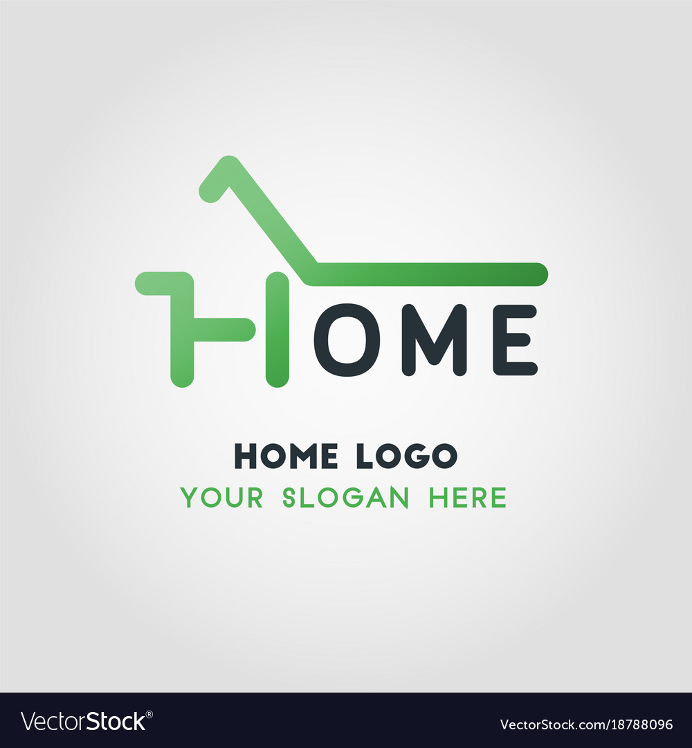 Green home business logo template royalty free vector image green home business logo template vector image wajeb Gallery