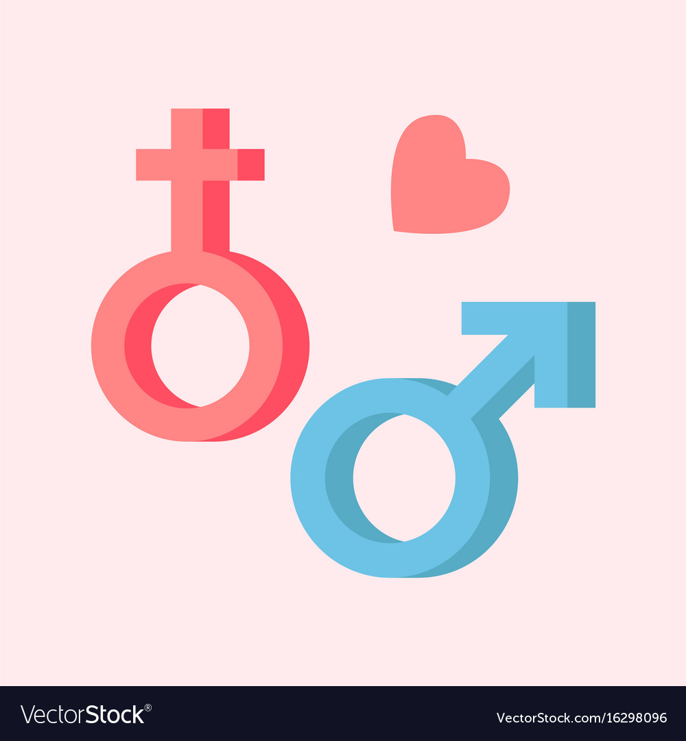 Male And Female Symbols Combination Sex Royalty Free Vector