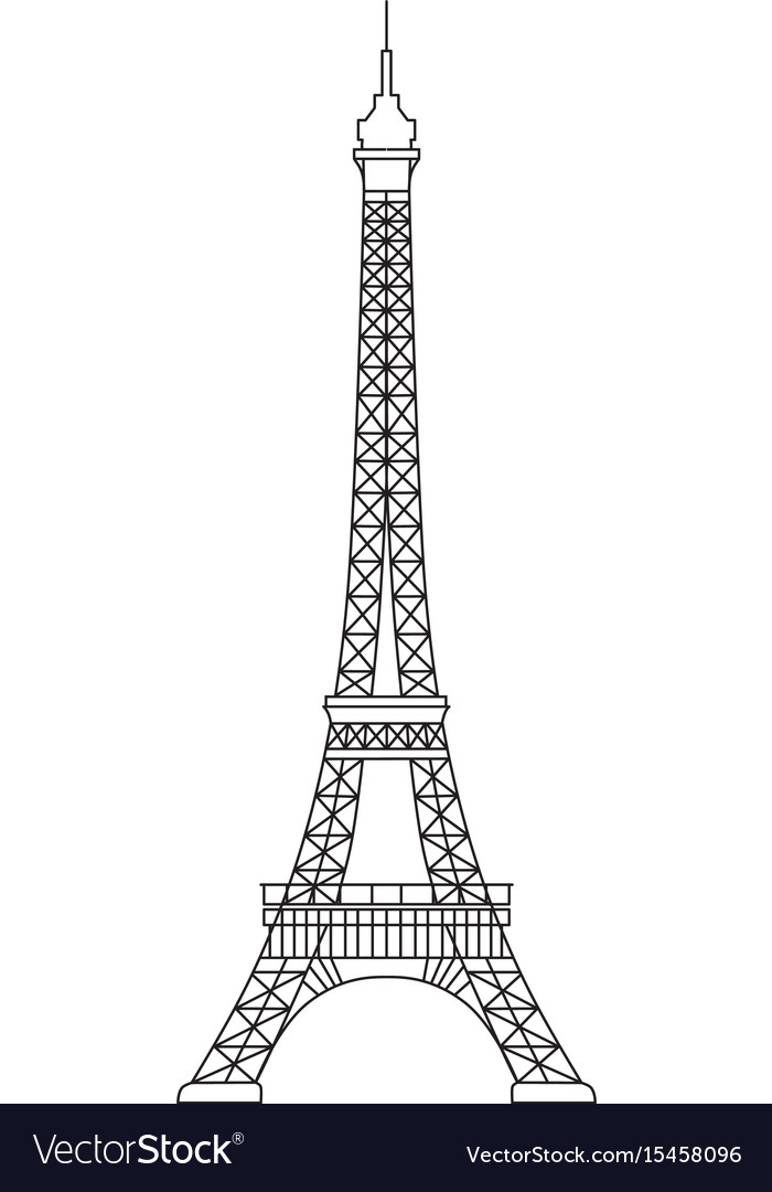 Simplified Of Eiffel Tower Symbol Of Royalty Free Vector