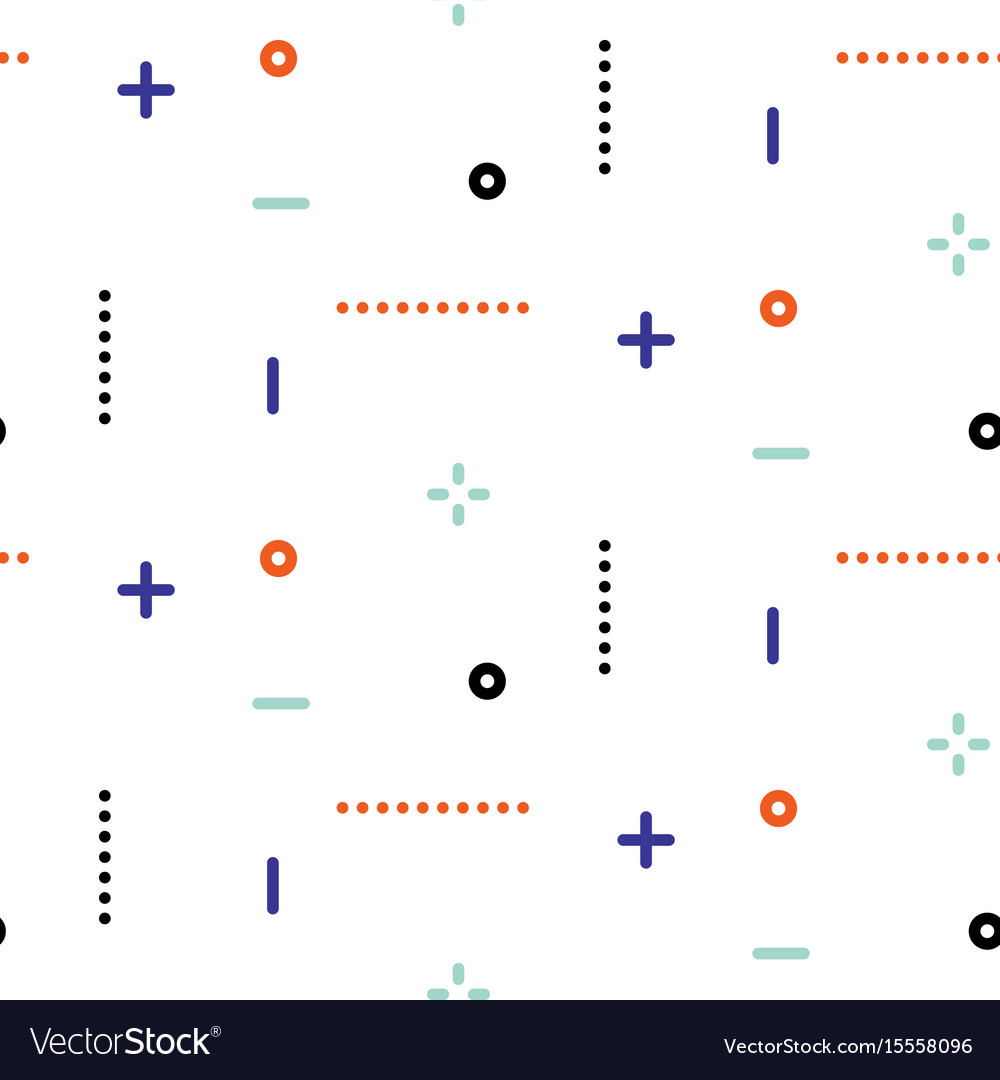 Thin geometric dots and lines seamless
