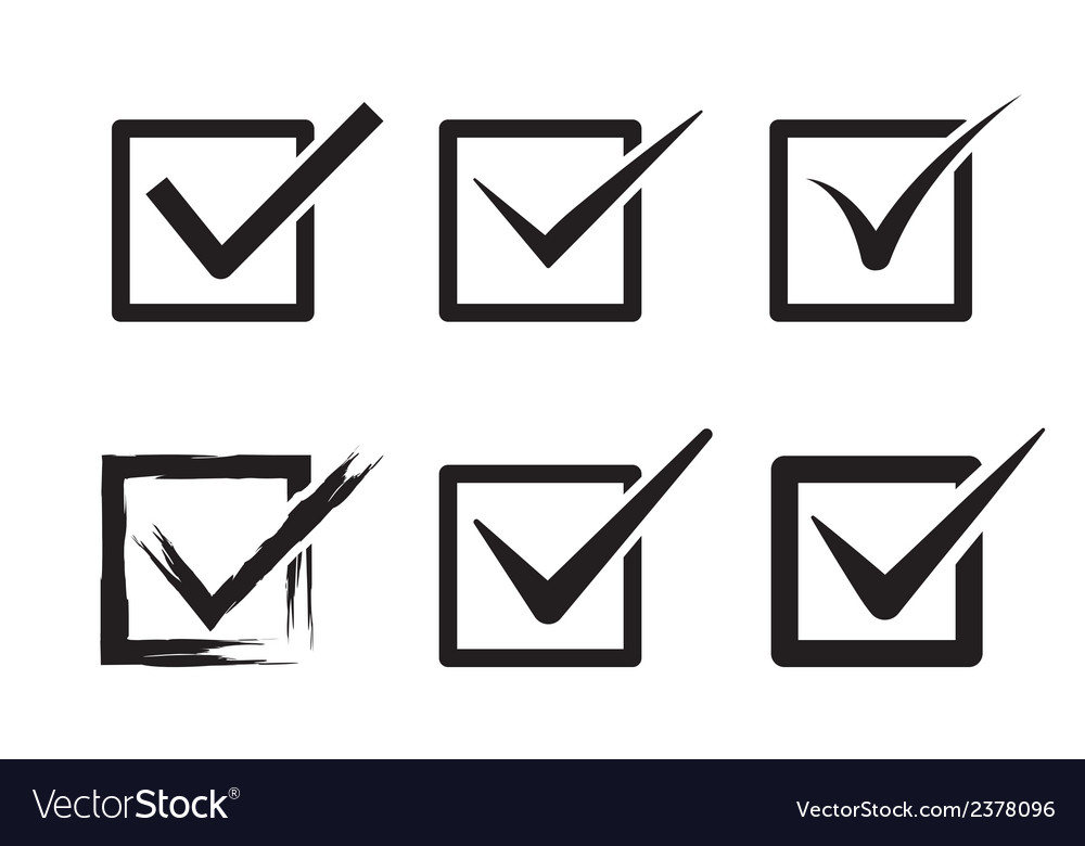 Tick box vector image