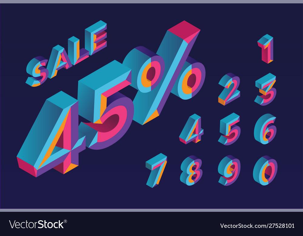 45 sale 0 1 2 3 4 5 6 7 8 9 isometric