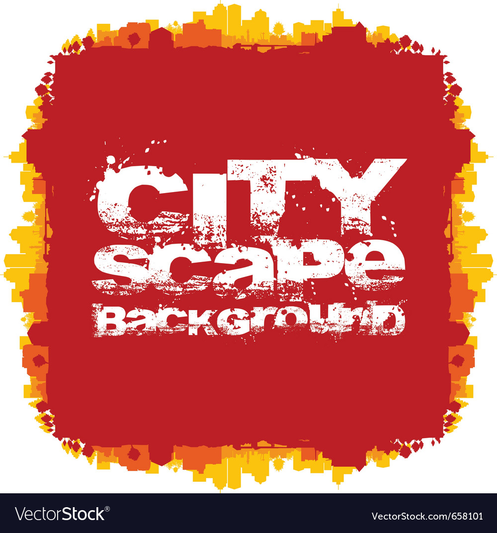 Cityscape abstract background vector image