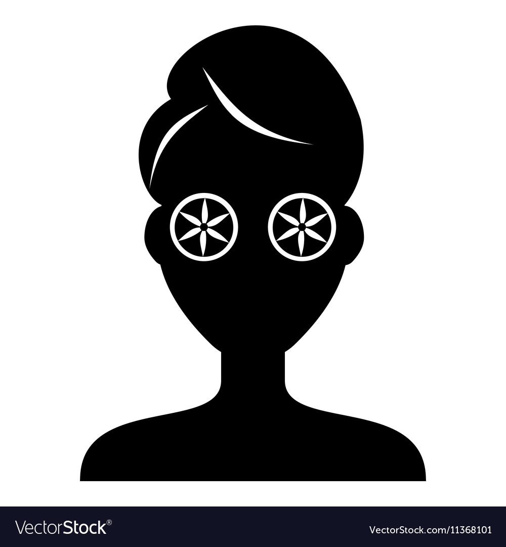 Face of girl on Spa icon simple style
