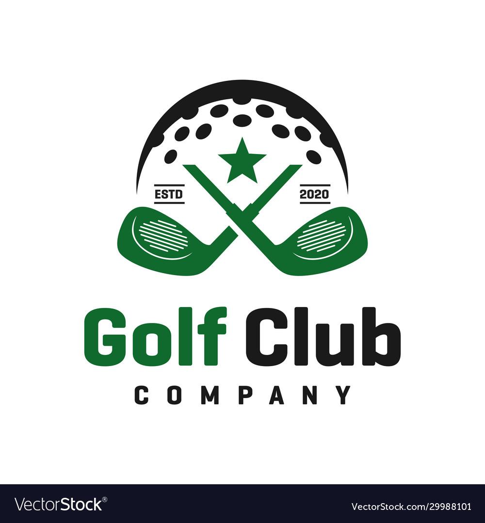 Golf sports logo design