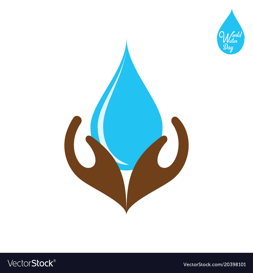 Happy water day poster design