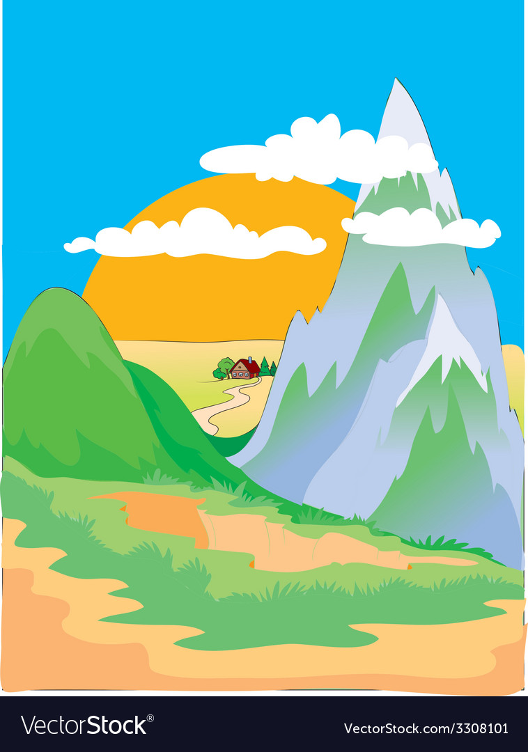 Hill vector image
