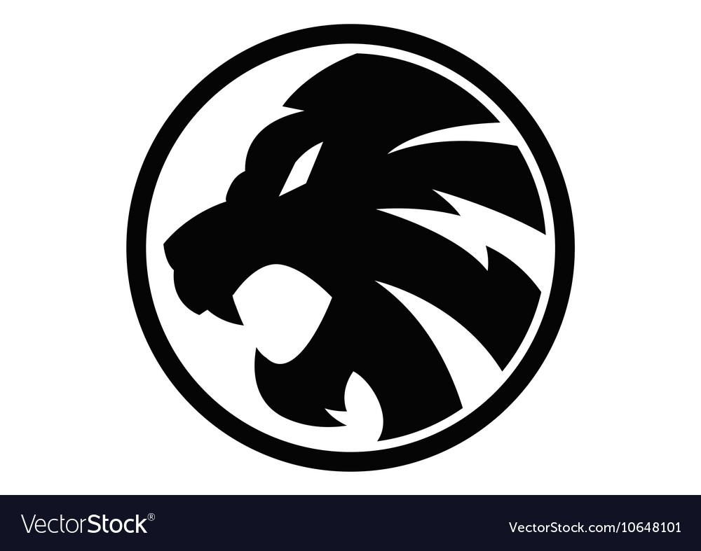 Lion black symbol sign 092016 vector image