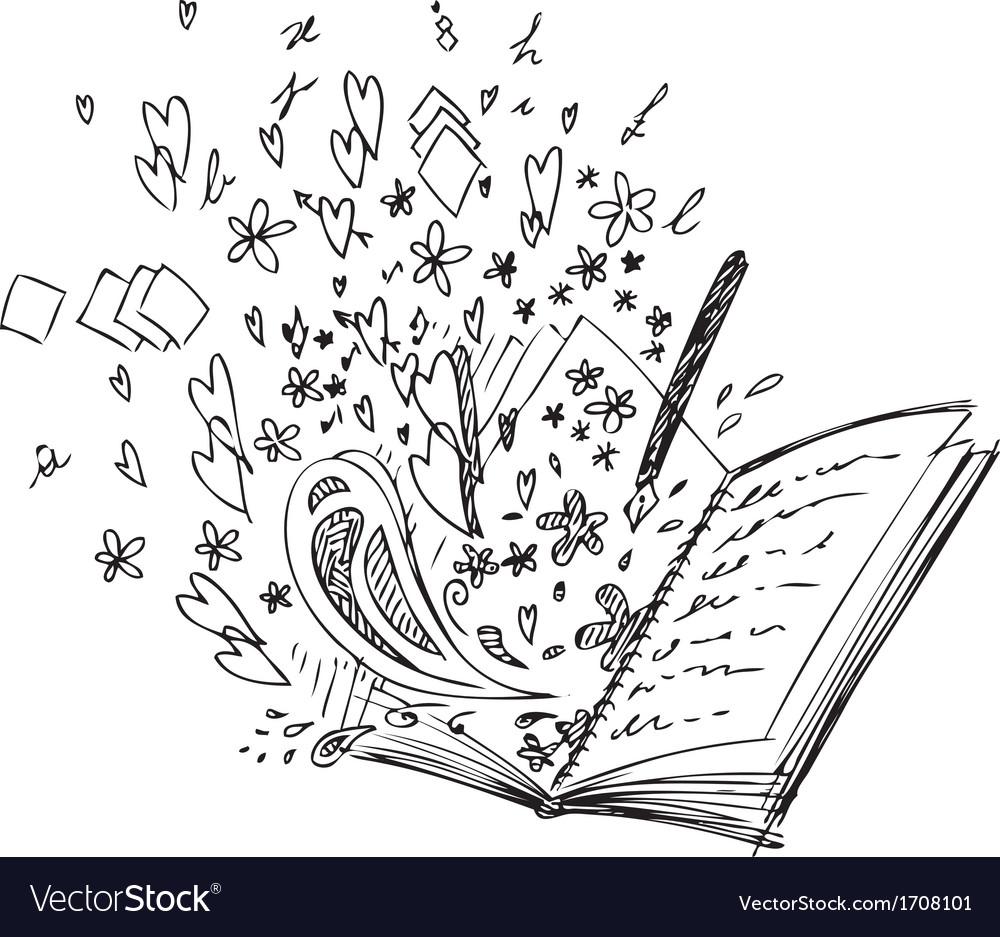 Love book vector image