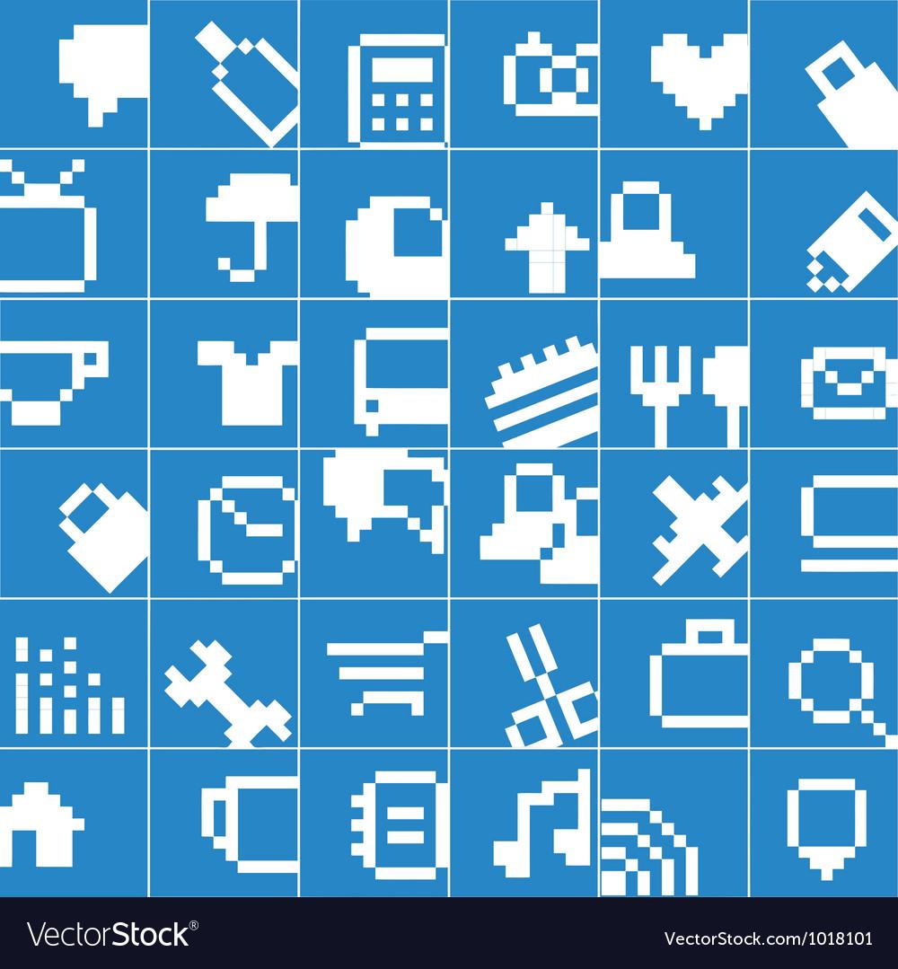 Modern social media button interface vector image