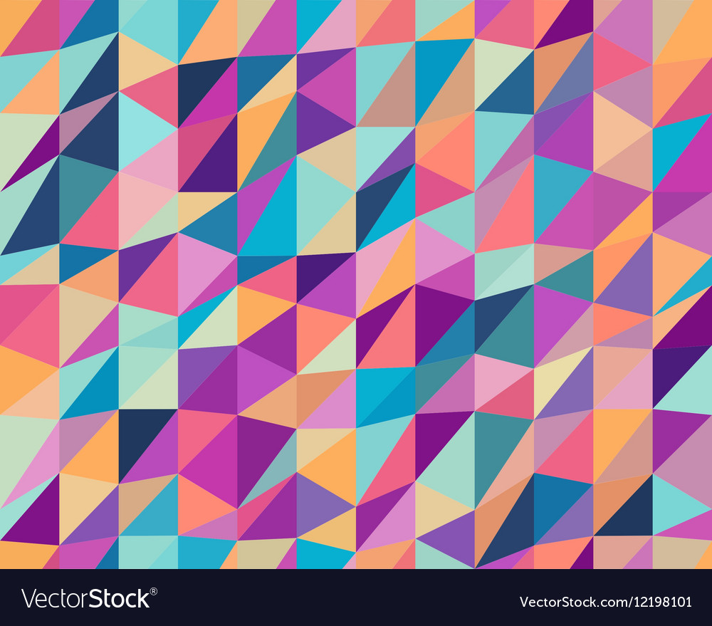 Seamless Multicolor Triangle Low Poly