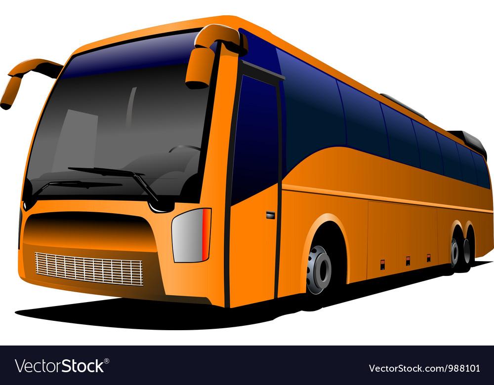 tour bus company logo royalty free vector image