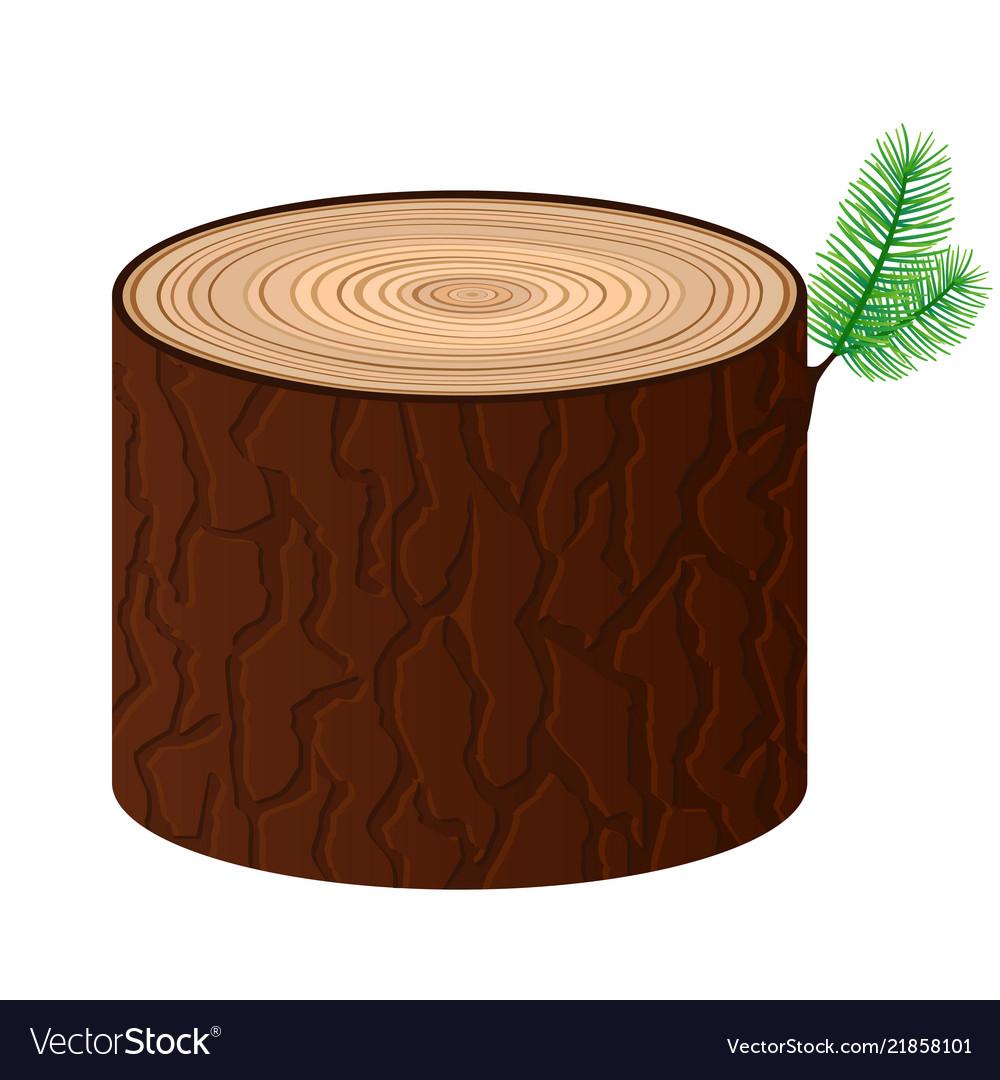 Wood cartoon log isolated objects tree