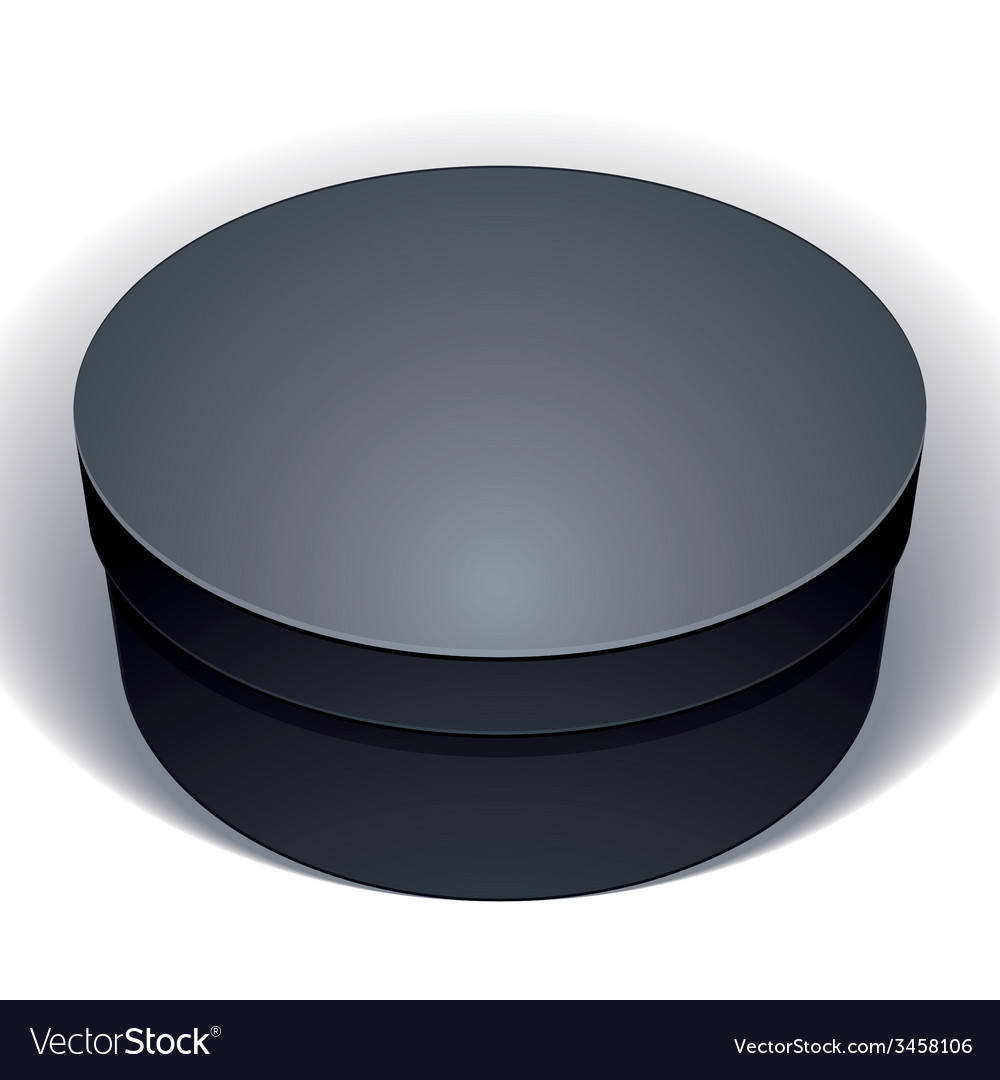 Blank black round box isolated on white background vector image