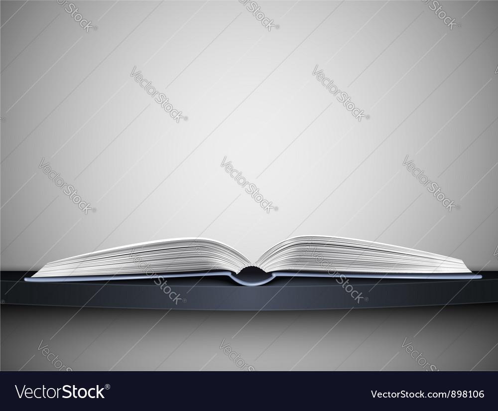 Book on shelf vector image