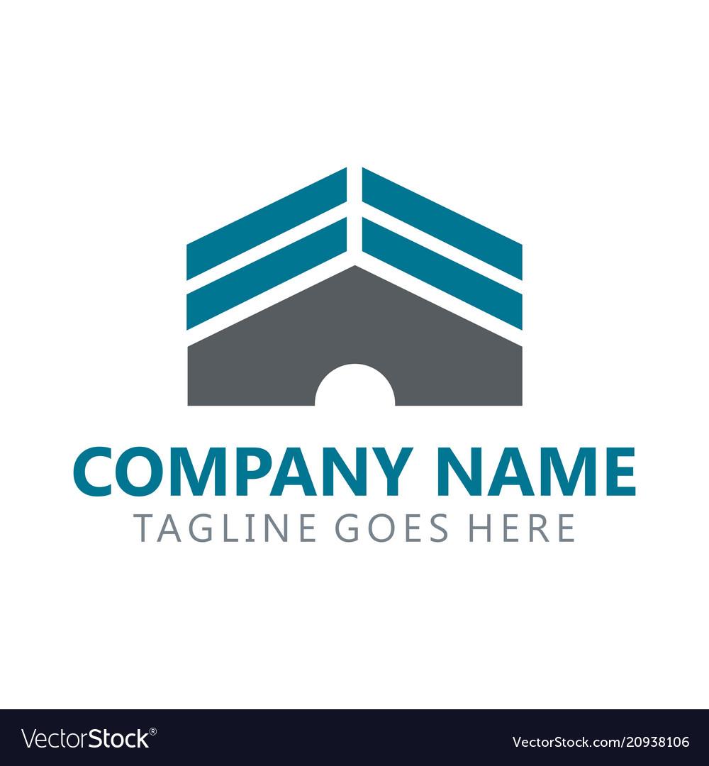Building real estate logo vector image