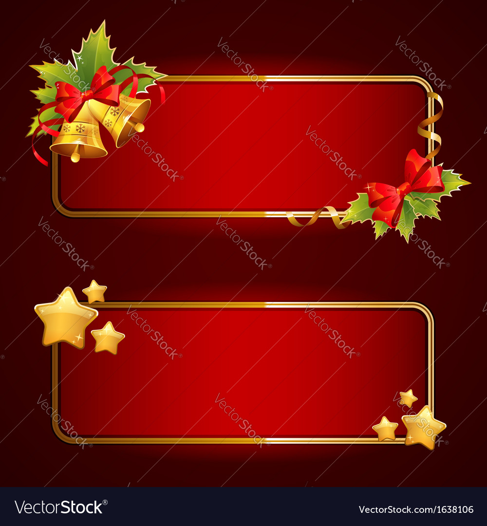 Christmas bright blank festive banners set