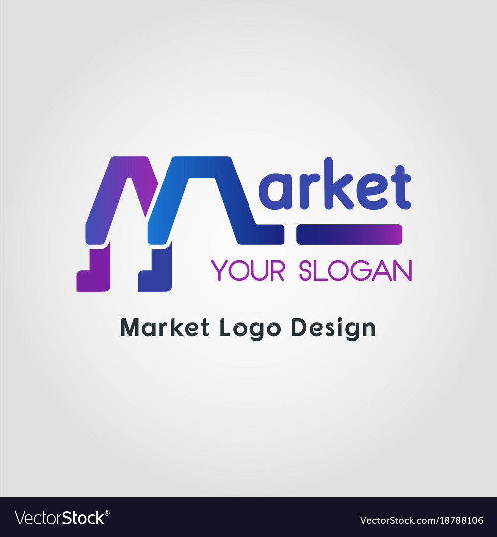 Color blend market business logo template