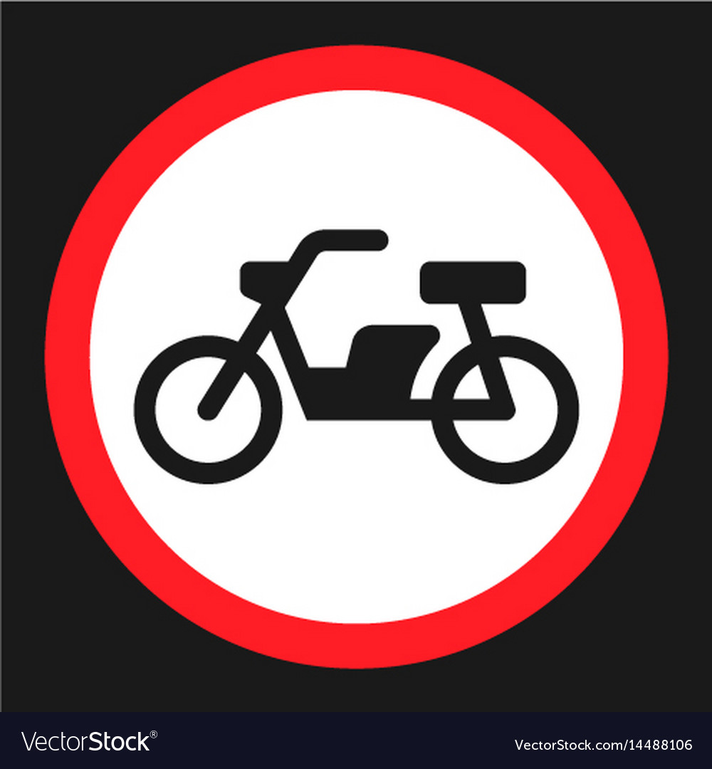No motorcycle prohibition sign flat icon vector image