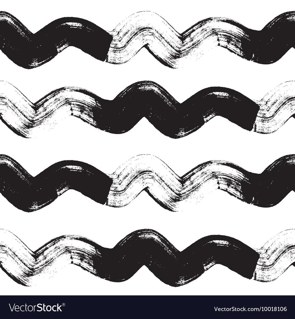 Seamless pattern with grunge brush strokes