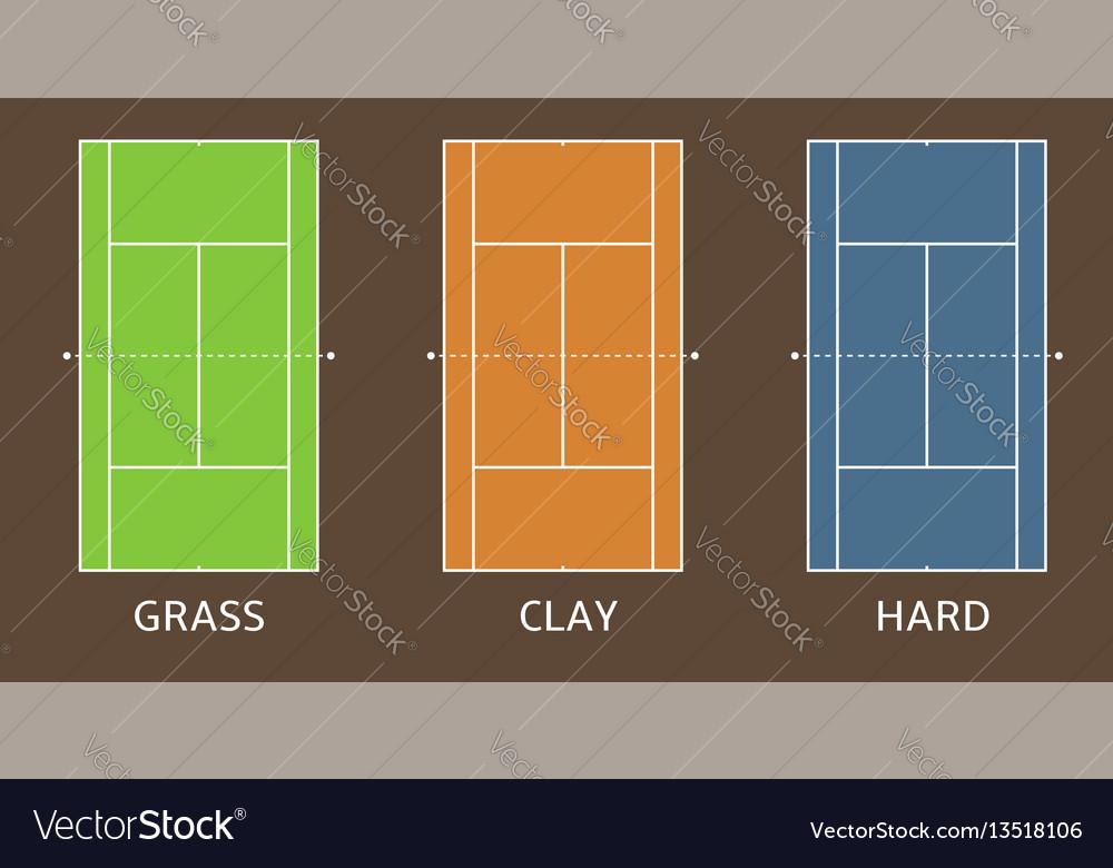 tennis court set vector image