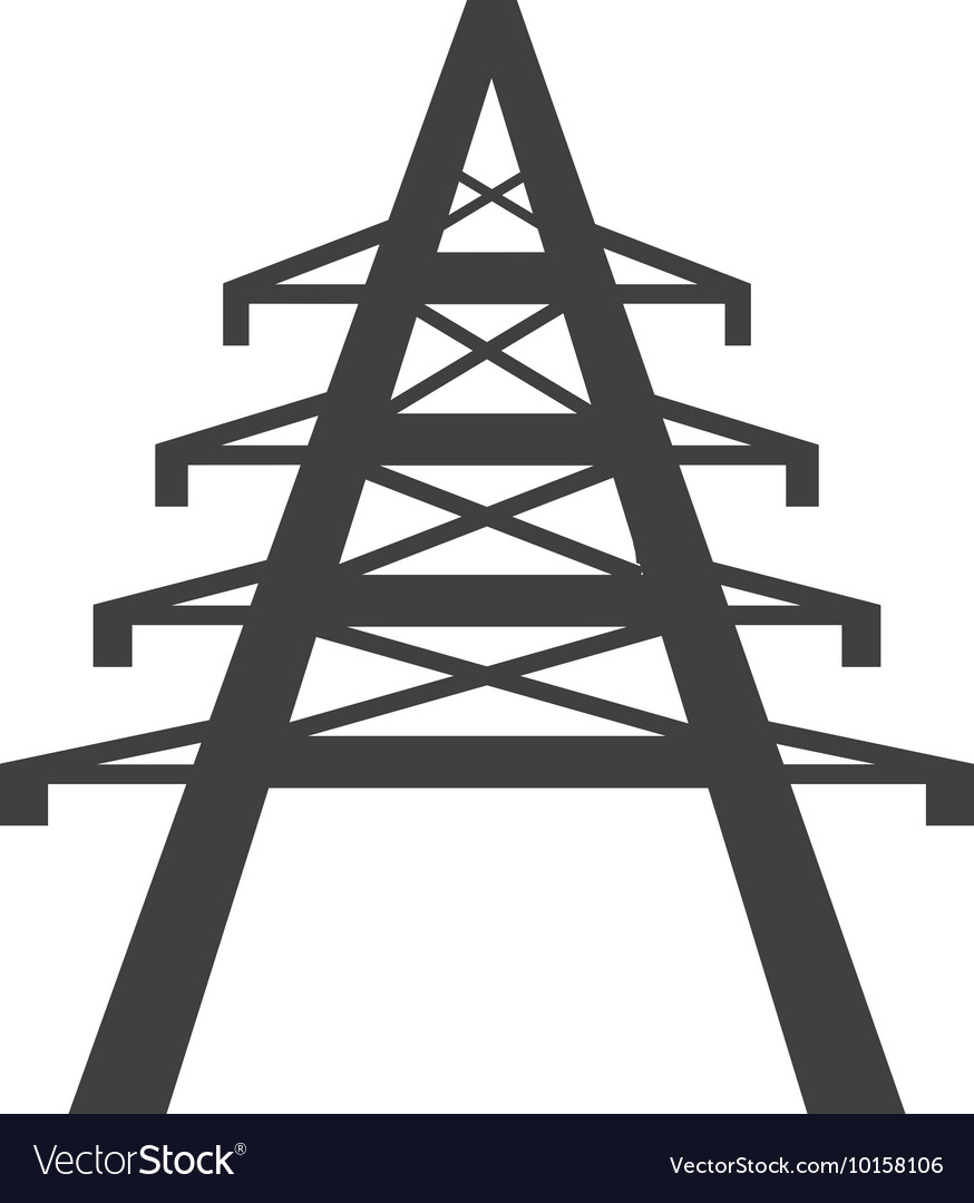 Tower power energy technology icon graphic