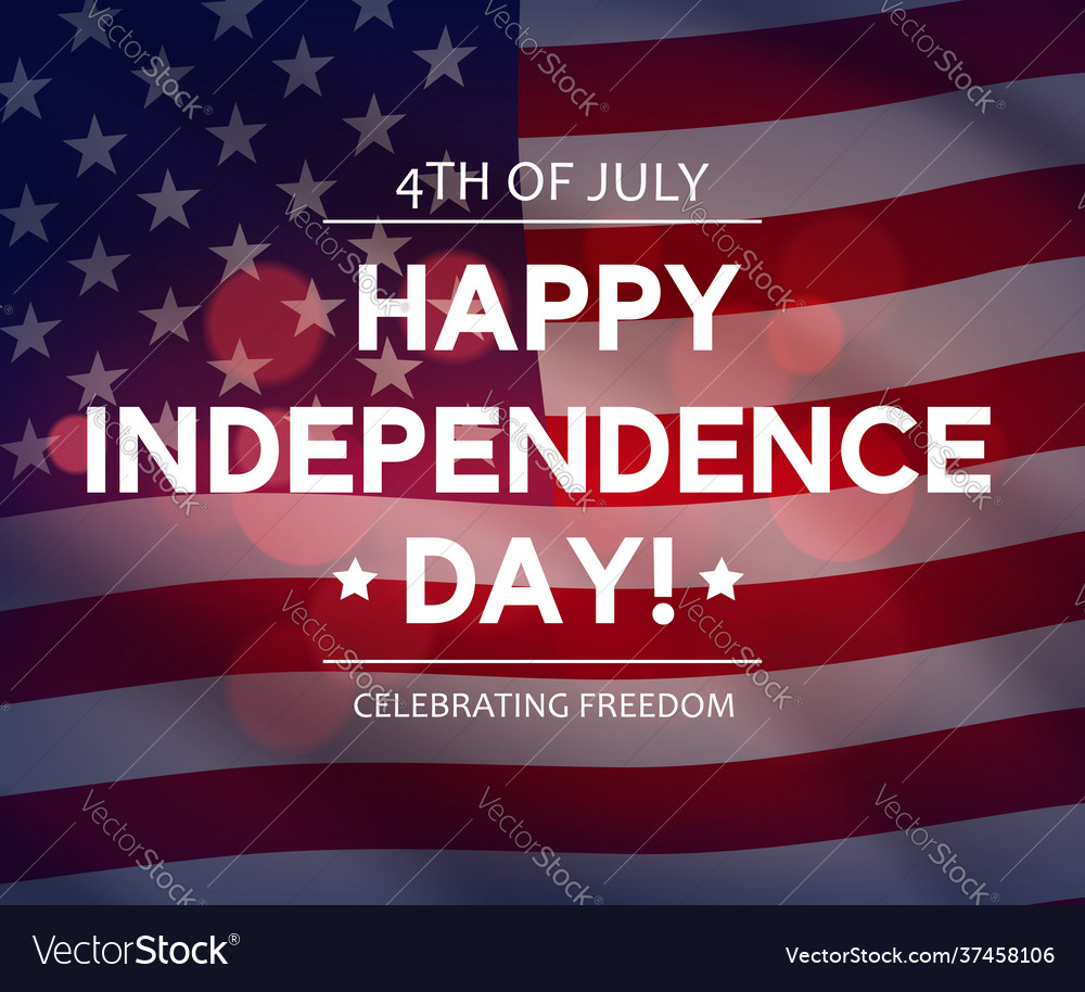 Usa independence day banner or greeting card
