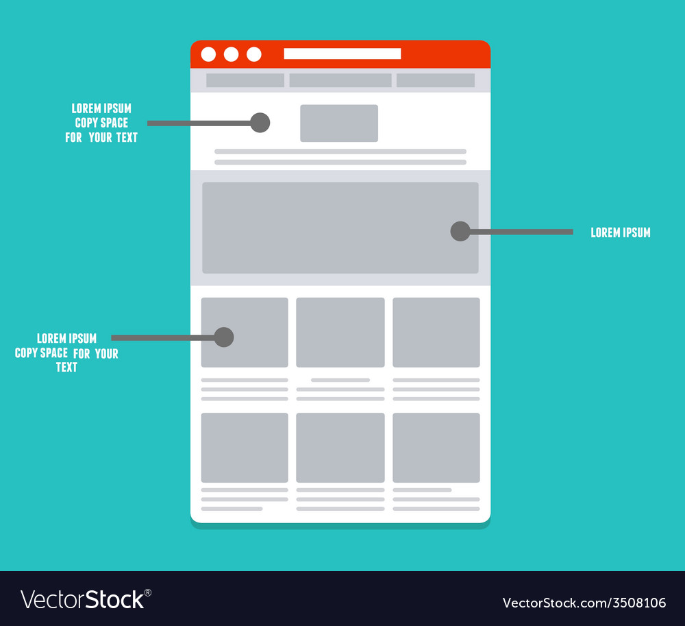 Wireframe - information structure and description